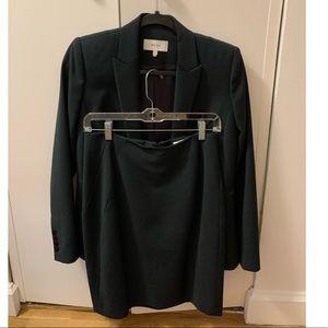 Reiss suit set: dark green blazer and skirt size 6